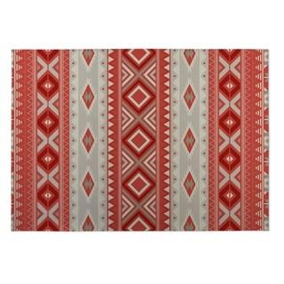 Kavka Designs Red Santa Fe 2' x 3' Indoor/ Outdoor Floor Mat