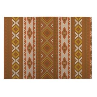 Kavka Designs Rust Santa Fe 2' x 3' Indoor/ Outdoor Floor Mat