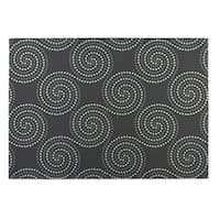 Kavka Designs Grey Clouds 2' x 3' Indoor/ Outdoor Floor Mat
