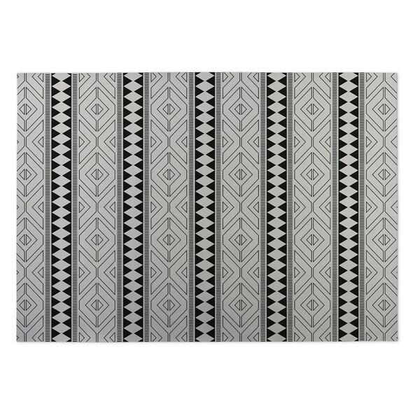 Kavka Designs Ivory/ Black Diamante 2' x 3' Indoor/ Outdoor Floor Mat