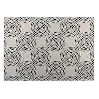Kavka Designs Ivory/ Black Clouds 2' x 3' Indoor/ Outdoor Floor Mat