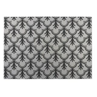 Kavka Designs Ivory/ Grey Spring Field 2' x 3' Indoor/ Outdoor Floor Mat