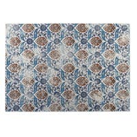 Kavka Designs Ivory/ Blue Mogul 2' x 3' Indoor/ Outdoor Floor Mat