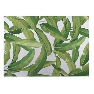 Kavka Designs Green Banana Leaves 2' x 3' Indoor/ Outdoor Floor Mat