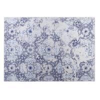 Kavka Designs Ivory/ Blue Old Vineyard 2' x 3' Indoor/ Outdoor Floor Mat