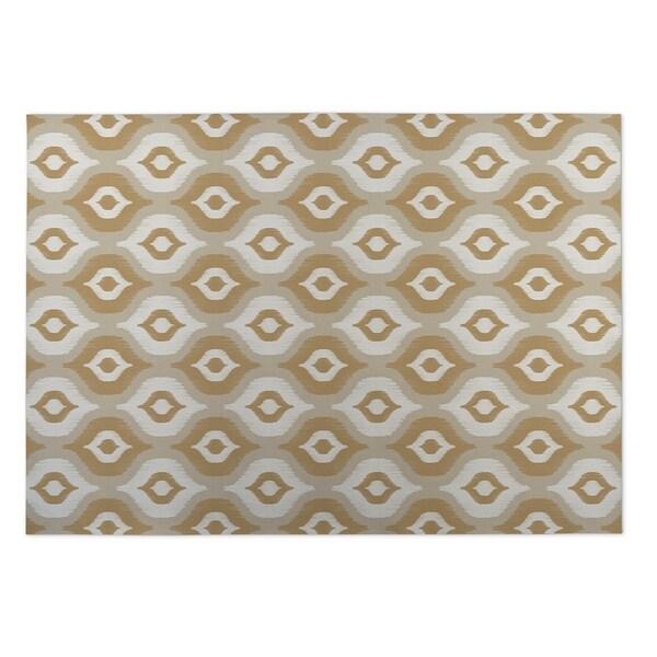 Kavka Designs Tan/ Ivory/ Gold Harmony 2' x 3' Indoor/ Outdoor Floor Mat