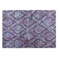 Kavka Designs Lilac/ Multi Autumn 2' x 3' Indoor/ Outdoor Floor Mat