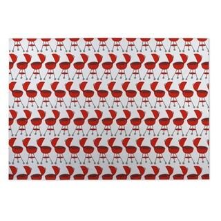 Kavka Designs Red BBQ 2' x 3' Indoor/ Outdoor Floor Mat