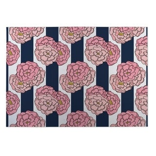 Kavka Designs Pink/ Blue Plaid 2' x 3' Indoor/ Outdoor Floor Mat