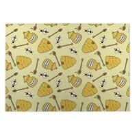 Kavka Designs Yellow Book Plaid 2' x 3' Indoor/ Outdoor Floor Mat