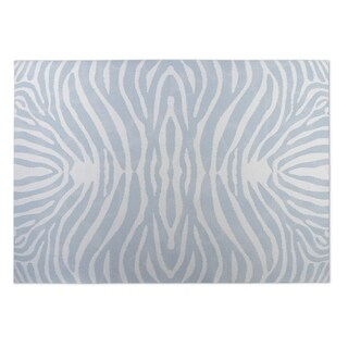 Kavka Designs Blue/ Ivory Safari 2' x 3' Indoor/ Outdoor Floor Mat