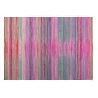 Kavka Designs Pink/ Purple/ Blue Abstract Sunset 2' x 3' Indoor/ Outdoor Floor Mat