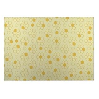 Kavka Designs Yellow Bees 2' x 3' Indoor/ Outdoor Floor Mat