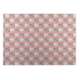 Kavka Designs Pink/ White/ Tan Ice Cream 2' x 3' Indoor/ Outdoor Floor Mat (Option: Pink)