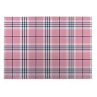 Kavka Designs Pink/ Blue Plaid 2' x 3' Indoor/ Outdoor Floor Mat