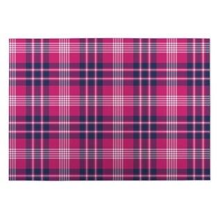Kavka Designs Pink/ Blue Floral 2' x 3' Indoor/ Outdoor Floor Mat (Option: Pink)