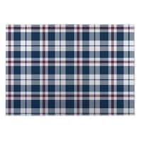 Kavka Designs Blue/ Red Plaid Navy Red 2' x 3' Indoor/ Outdoor Floor Mat