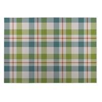 Kavka Designs Green/ Blue/ Orange Fishing Plaid 2' x 3' Indoor/ Outdoor Floor Mat