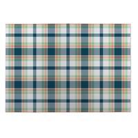 Kavka Designs Blue/ Green/ Orange Plaid Green Yellow 2' x 3' Indoor/ Outdoor Floor Mat