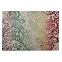 Kavka Designs Red/ Yellow/ Green/ Purple Heena 2' x 3' Indoor/ Outdoor Floor Mat