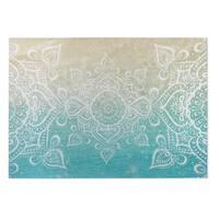 Kavka Designs Blue/ White/ Tan  Dream Of The Beach 2' x 3' Indoor/ Outdoor Floor Mat