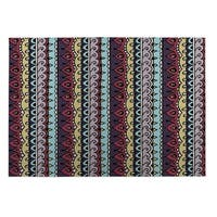 Kavka Designs Blue/ Purple/ Yellow/ Red Dimensions 2' x 3' Indoor/ Outdoor Floor Mat