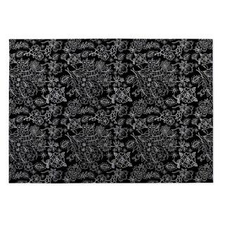 Kavka Designs Black Night Garden 2' x 3' Indoor/ Outdoor Floor Mat