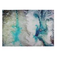 Kavka Designs Blue/ Grey/ Green Cosmic Meltdown 2' x 3' Indoor/ Outdoor Floor Mat