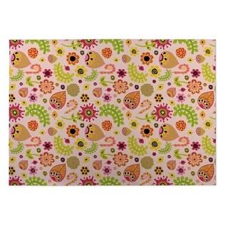 Kavka Designs Pink/ Green/ Red/ Yellow Play Land 2' x 3' Indoor/ Outdoor Floor Mat (Option: Pink)