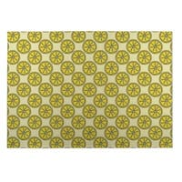 Kavka Designs Yelliow Dream of Garden 2' x 3' Indoor/ Outdoor Floor Mat