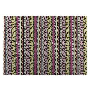 Kavka Designs Pink/ Yellow/ Purple Sediments 2' x 3' Indoor/ Outdoor Floor Mat (Option: Pink)
