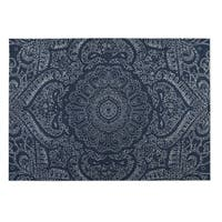 Kavka Designs Blue/ White Mandala 2' x 3' Indoor/ Outdoor Floor Mat