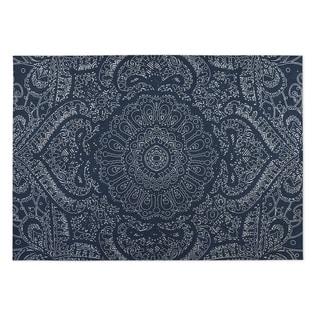 Kavka Designs Blue/ White Mandala 2u0027 X 3u0027 Indoor/ Outdoor ...