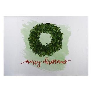 Kavka Designs Red/ White/ Green Merry Christmas 2' x 3' Indoor/ Outdoor Floor Mat