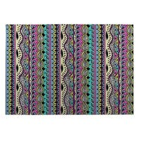 Kavka Designs Blue/ Pink/ Purple/ Yellow Color Dance 2' x 3' Indoor/ Outdoor Floor Mat