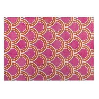 Kavka Designs Pink Pink Loops 2' x 3' Indoor/ Outdoor Floor Mat (Option: Pink)