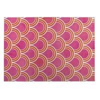 Kavka Designs Pink Pink Loops 2' x 3' Indoor/ Outdoor Floor Mat