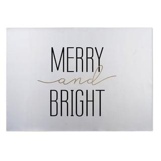 Kavka Designs White Merry And Bright 2' x 3' Indoor/ Outdoor Floor Mat