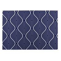 Kavka Designs Blue/ White Botanical Studies ll 2' x 3' Indoor/ Outdoor Floor Mat