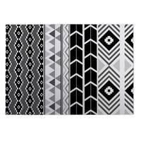 Kavka Designs Black/ White/ Grey Black and White Tribal 2' x 3' Indoor/ Outdoor Floor Mat