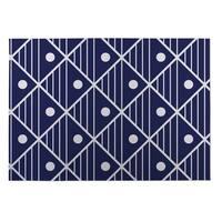 Kavka Designs Blue/ White Moon Lake 2' x 3' Indoor/ Outdoor Floor Mat