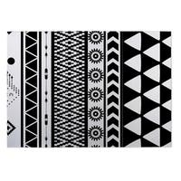Kavka Designs Black/ White Black and White Moroccan 2' x 3' Indoor/ Outdoor Floor Mat