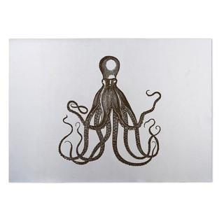 Kavka Designs Brown/ White Octopus 2' x 3' Indoor/ Outdoor Floor Mat