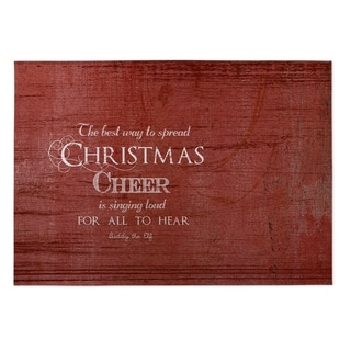 Kavka Designs Red/ Ivory Christmas Cheer 2' x 3' Indoor/ Outdoor Floor Mat