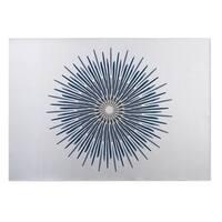Kavka Designs Blue/ Grey/ White Polar Sun 2' x 3' Indoor/ Outdoor Floor Mat