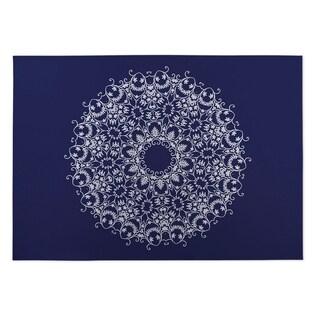 Kavka Designs Blue/ White Heena 2' x 3' Indoor/ Outdoor Floor Mat