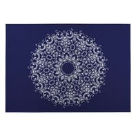 Kavka Designs Blue/ White Heena 2' x 3' Indoor/ Outdoor Floor Mat