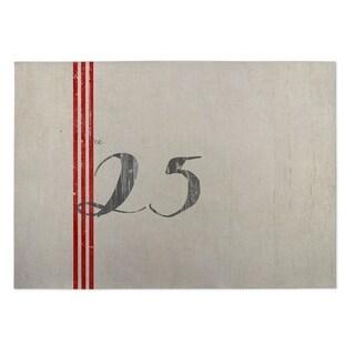 Kavka Designs Ivory/ Red/ Grey Christmas 2' x 3' Indoor/ Outdoor Floor Mat