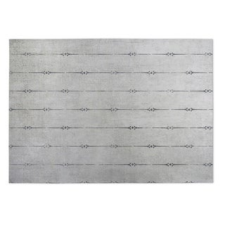Kavka Designs Grey Lineage 2' x 3' Indoor/ Outdoor Floor Mat