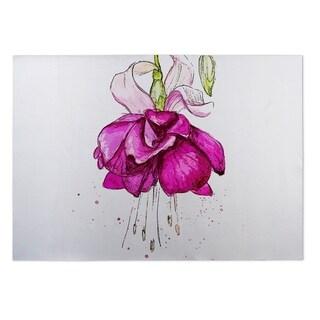 Kavka Designs Pink/ Purple/ Green Draping Flower 2' x 3' Indoor/ Outdoor Floor Mat